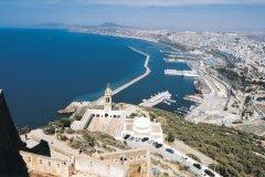 Vue de la baie d'Oran depuis le fort Santa Cruz. (© Sébastien CAILLEUX)
