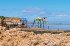 Les carrelets de l'île Madame. (© Vincent Edwell)