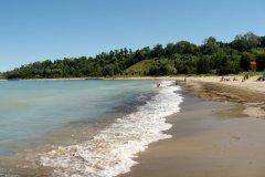 La plage Rotary Cove à Goderich. (© Valérie FORTIER)