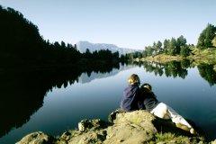 Le lac Achard se situe au sud de la chaîne de Belledonne. (© E.Lecocq)