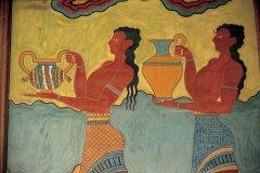 Fresque au musée archéologique de Cnossos. (© Cali - Iconotec)