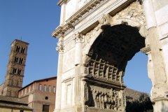 Arc de Titus, le Forum romain. (© Stéphan SZEREMETA)