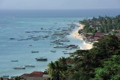 Nusa Lembongan: vue sur le village de Jungutbatu. (© PATRICE ALCARAS)