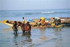 Pêcheurs à Saly. (© Tom Pepeira - Iconotec)