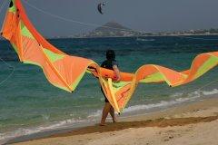 Kite boarding sur la plage de Naxos. (© BDphoto - iStockphoto)