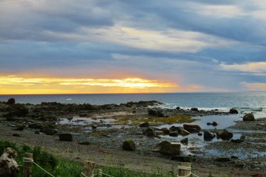 Coucher de soleil en Gaspésie. (© Valérie FORTIER)
