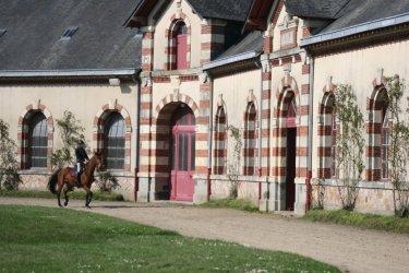 Cour du Haras national de Saint-Lô. (© Pôle Hippique de saint-Lô)