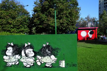 Plaza Mafalda dans le quartier de Colegiales (© Stéphan SZEREMETA)