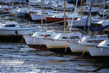 Bateaux à marée basse - Pornichet (© PHOVOIR)
