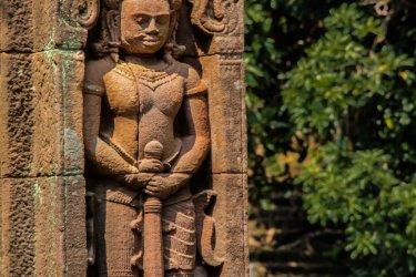 Sculpture du temple Vat Phou. (© Immigrant1992 - Shutterstock.com)