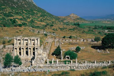 Bibliothèque de Celsus sur le site archéologique d'Éphèse. (© Hugo Canabi - Iconotec)