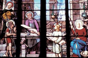 Vitrail de l'église Saint-Etienne de Brie-Comte-Robert (© Alamer - Iconotec)