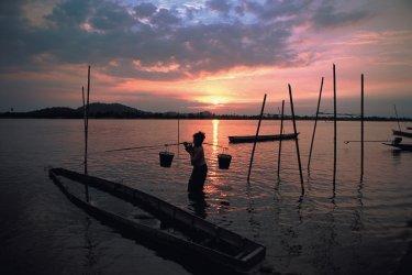 Pêcheur de l'île de Don Khong. (© Author's Image)