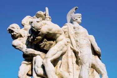 Rome : Statue du pont Victor-Emmanuel II.