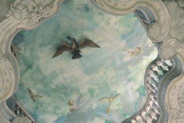 Plafond baroque de l'hôtel Ferrari (© ERWAN LE PRUNNEC - ICONOTEC)