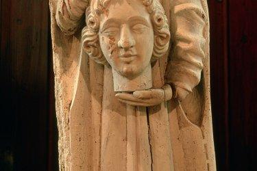 Statue de Saint-Livier dans l'hôtel de la Monnaie de Vic-sur-Seille (© ERWAN LE PRUNNEC - ICONOTEC)