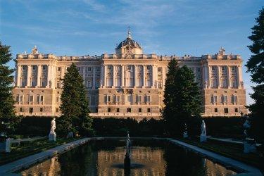 Madrid : Palacio Real (Palais royal) et jardins de Sabatini