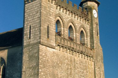 Le clocher-mur de Monflanquin (© JIMJAG - FOTOLIA)