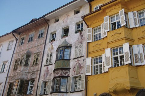 Maisons du centre de Bolzano. (© Marie-Isabelle CORRADI)