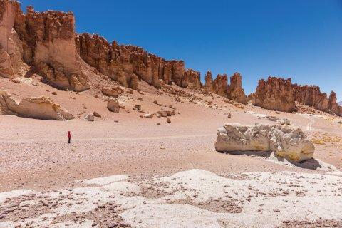 La réserve nationale de Los Flamingos, désert d'Atacama. (© miralex)