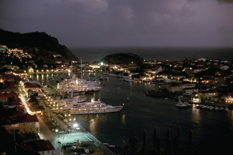 Gustavia by night! (© Author's Image)