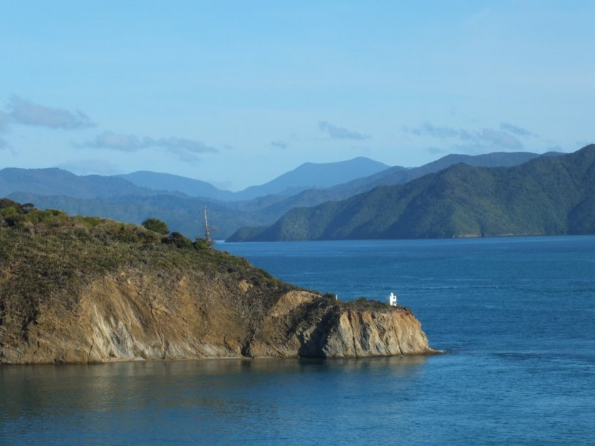 Paysage des Marlborough Sounds.