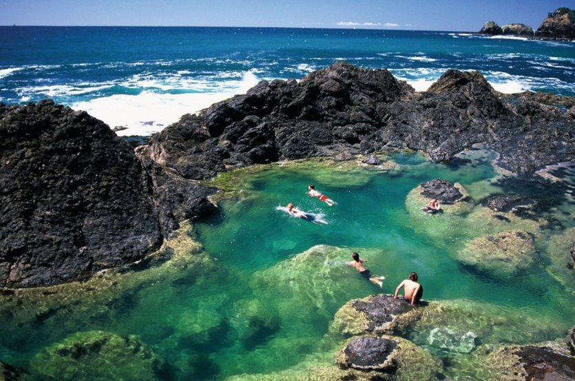Mermaid Pools, sur la côte de Tutukaka.