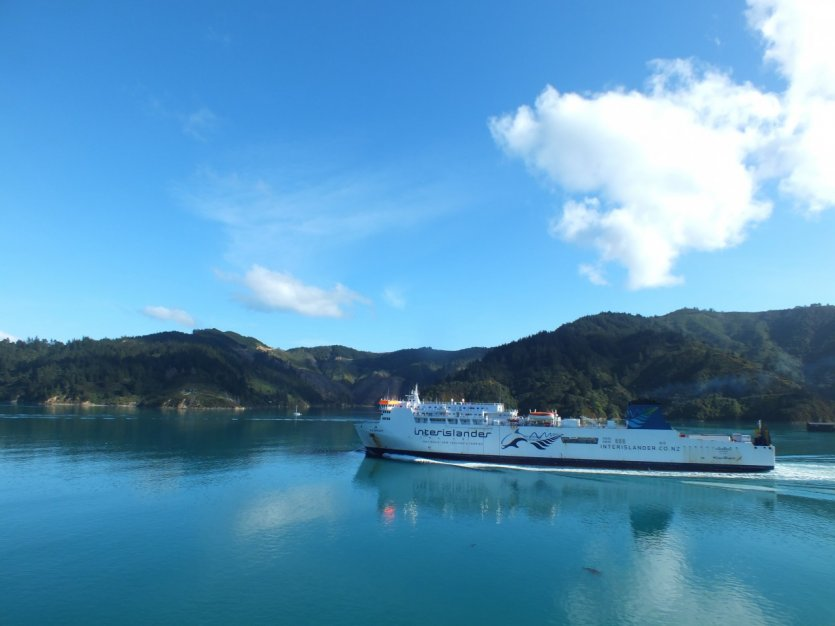 Ferry dans les Marlborough Sounds.