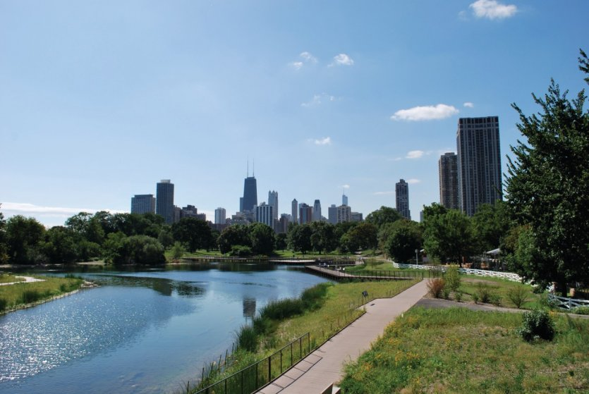 Vue du Lincoln Park, Chicago