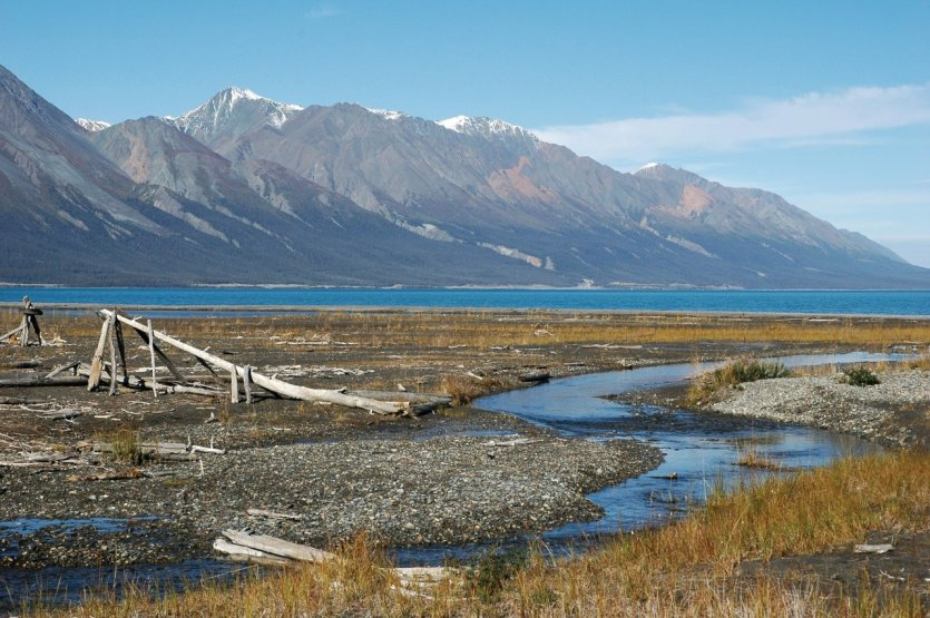 Lake Kluane depuis Silver City