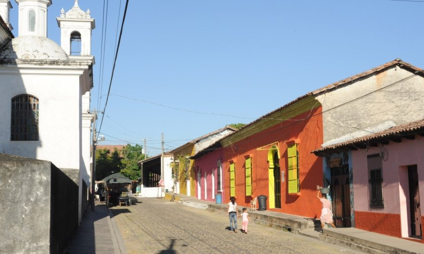 The colonial village of Suchitoto.