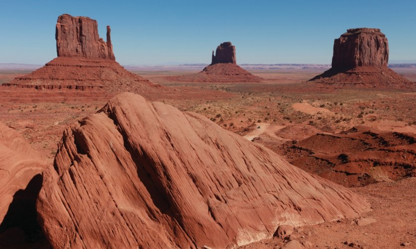 Panorama sur la West Mitten Butte, l'East Mitten Butte et la Merick Butte.