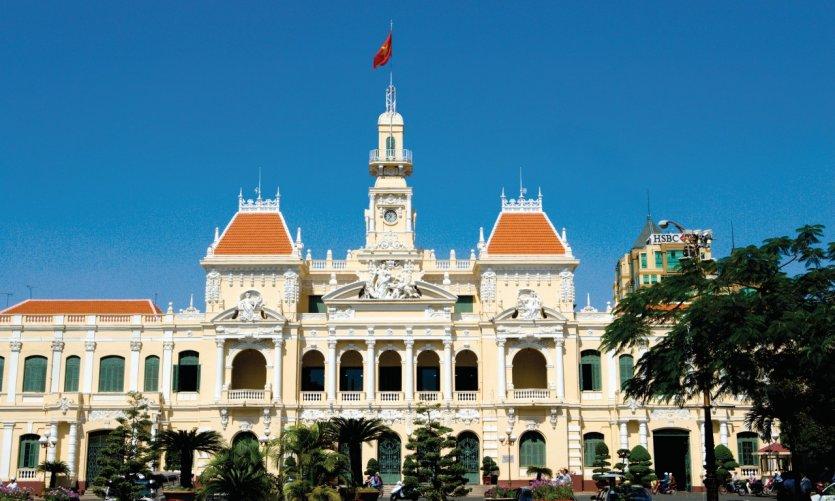 El ayuntamiento de Ho Chi Minh.