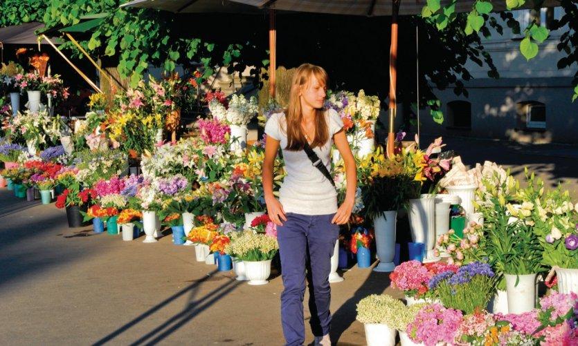 Le marché aux fleurs Brivibas Boulevard.