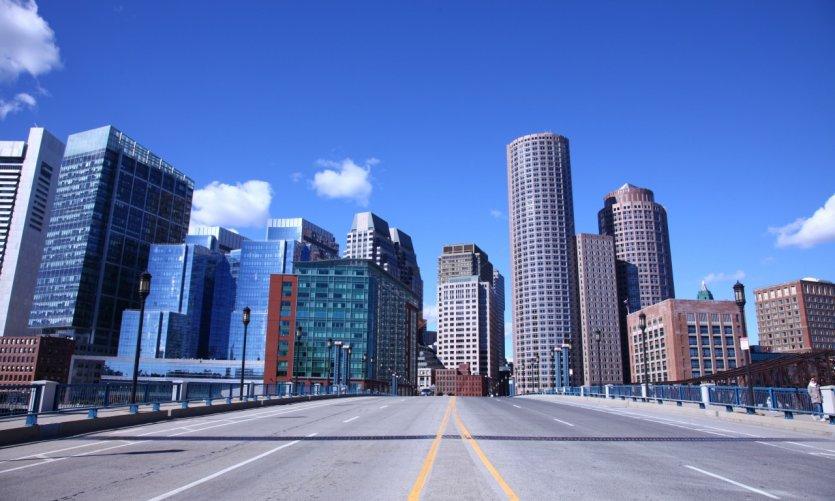 La skyline de Boston depuis Seaport.