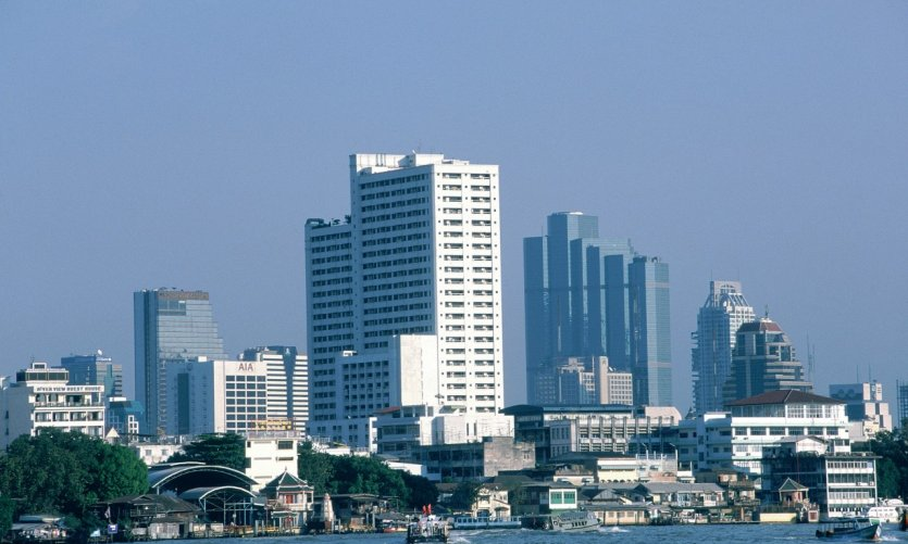 Vue générale du quartier moderne de Bangkok.