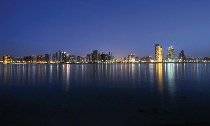 Skyline d'Abu Dhabi.