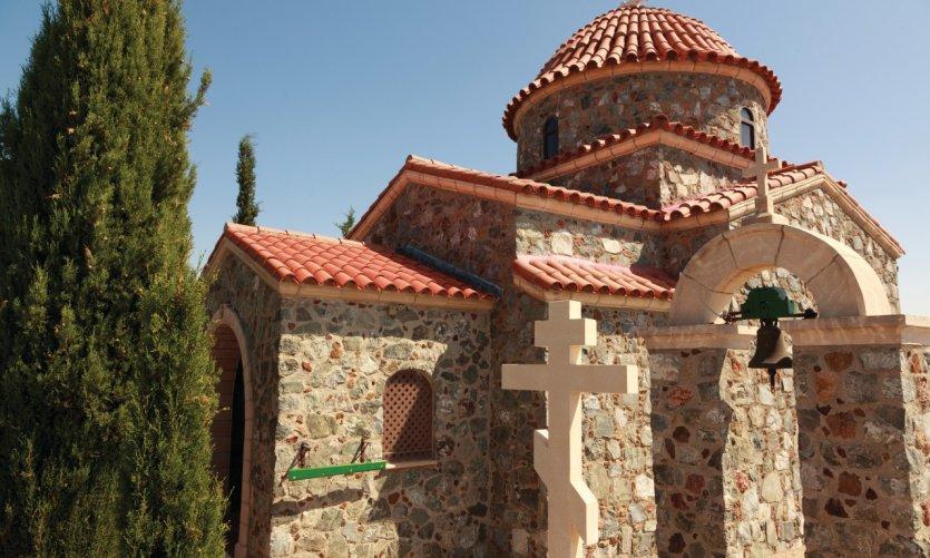 <p>Monastère de Stavrovouni, près de Larnaka.</p>