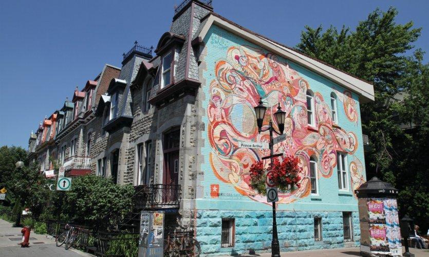Fresque murale, rue Prince-Arthur Est.