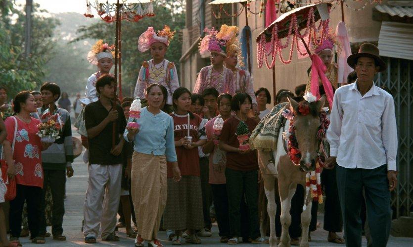 Short Blood Poi Ceremony, ordination of novices.