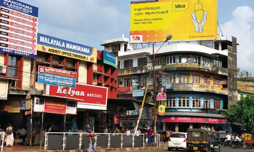 Dans les rues de Thrissur