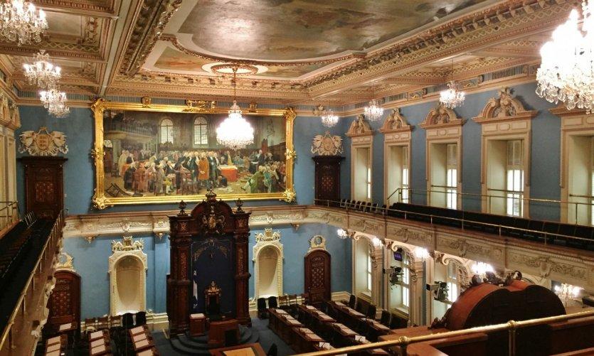 Salle de l'Assemblée nationale du Québec.