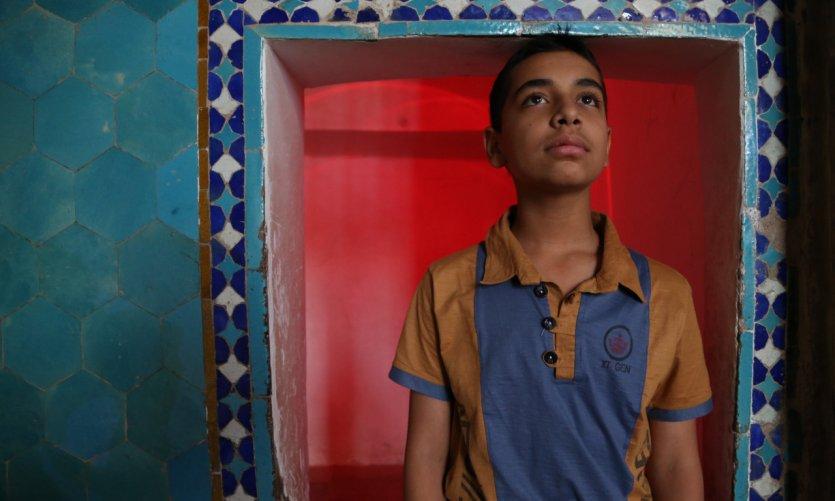 <p>Portrait dans la mosquée Jameh, dans la vieille ville de Yazd.</p>