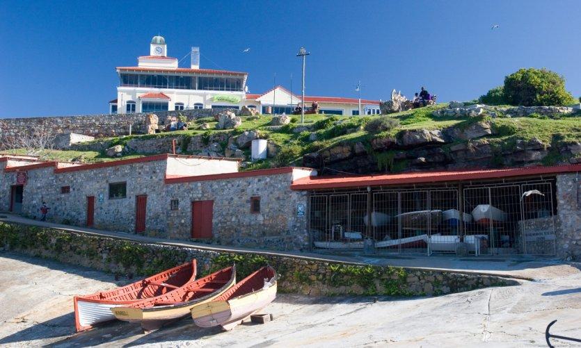 Port de la station balnéaire d'Hermanus.