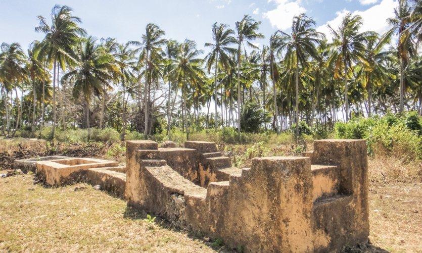 <p>Los vestigios de la mezquita de Kizimkazi.</p>