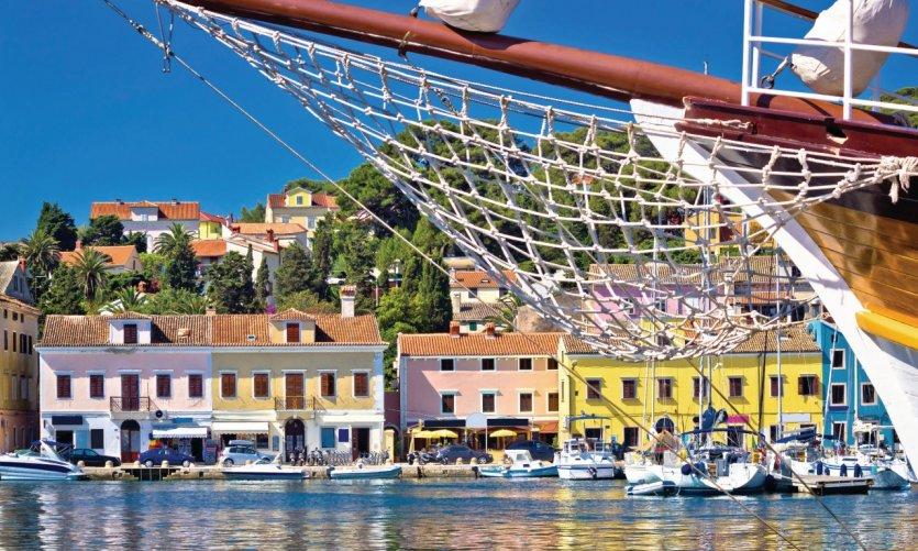 Le port coloré de Mali Lošinj.