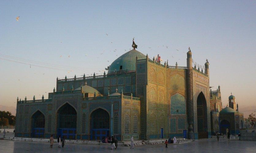 Mazar-e-Charif mosque where the tomb of Hazrat Ali is.