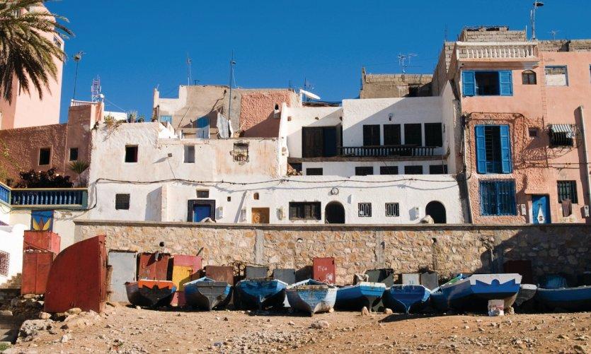 Petit village de pêcheur près d'Agadir.