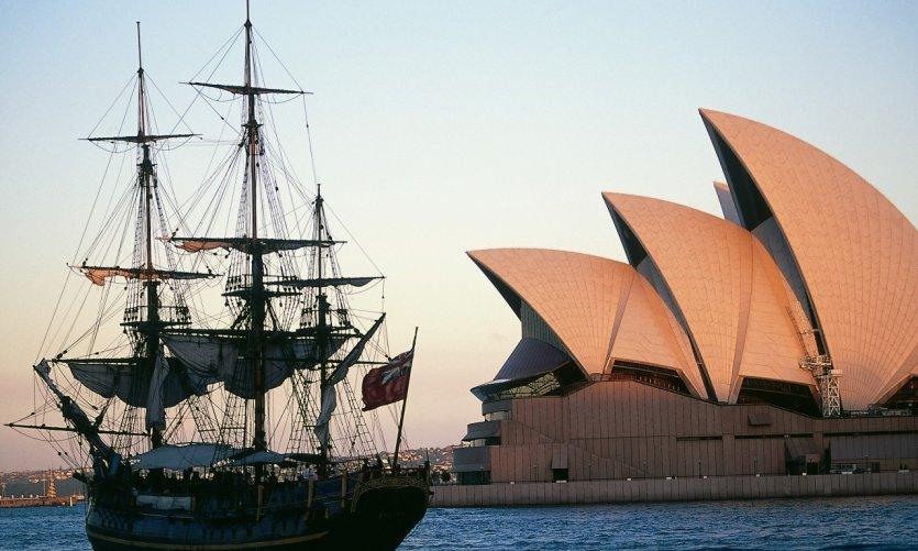 L'Opéra de Sydney et le Bounty.