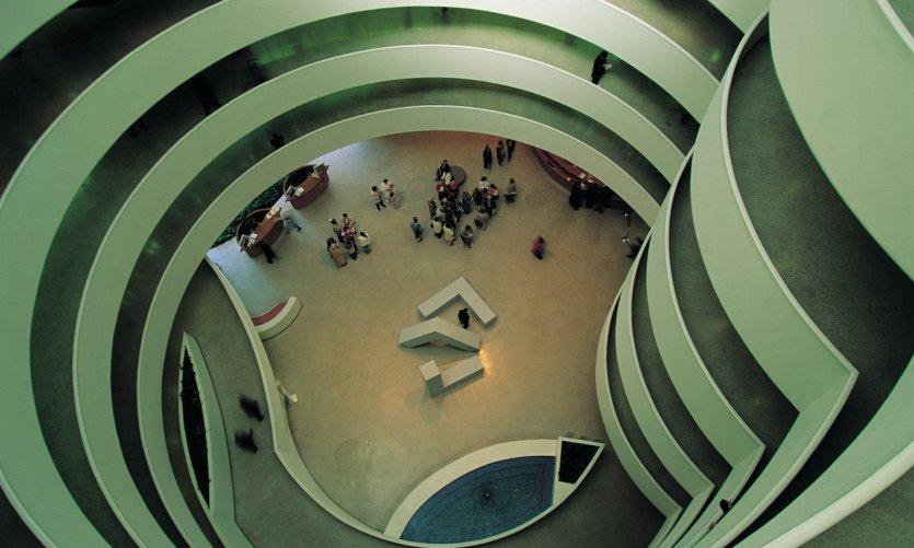 Intérieur du Guggenheim Museum.